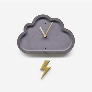 crowd thunder wall clock / クラウド サンダー ウォールクロック 雲 時計 韓国雑貨