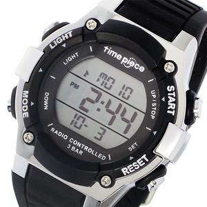 タイムピース TIME PIECE 電波時計 デジタル メンズ 腕時計 TPW-003BK ブラック ブラック