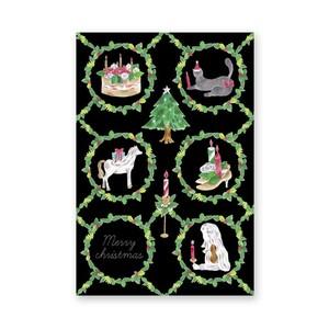 christmascard メリークリスマスのリース