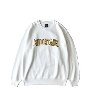 Mountain カレッジロゴ Crew Neck Sweat  / ユニセックス White