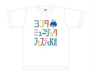【在庫限り】ヨコタフェスTシャツ  ①ロゴT(ホワイト)
