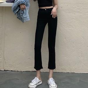 【ボトムス】人気上昇中ファッションハイウエスト無地アンクル丈カジュアルパンツ