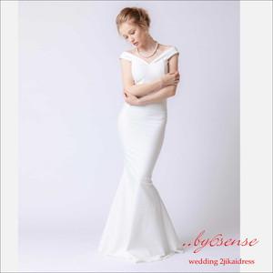 オフショルタイト・マーメイドラインロングドレス~二次会ウェディングドレス~