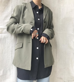 "USED "" silk tailored jacket / シルクテーラードジャケット"""