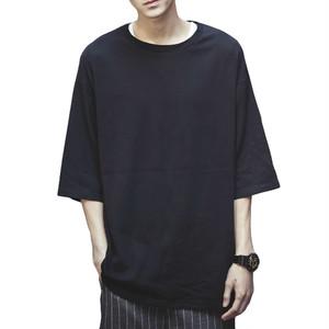 ビッグtシャツ メンズ ビックtシャツ 七分袖 ビッグシルエット tシャツ オーバーサイズ