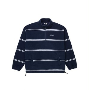 Polar skate co. Striped Fleece Pullover 2.0 RICH NAVY ポーラー フリース