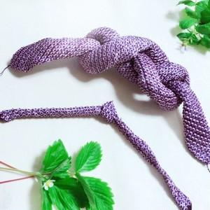 【紫】鹿の子絞り手絡セット