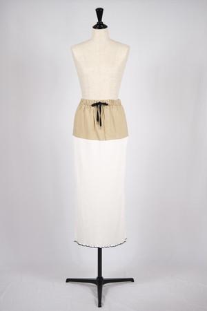 【AKIKOAOKI】Nike skirt - white