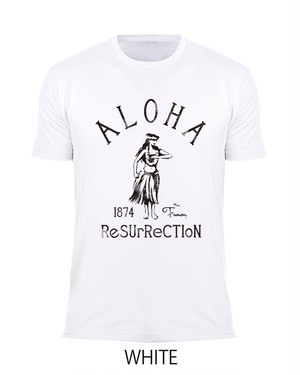 [MAN] ALOHA RESURRECTION TEE -WHITE-
