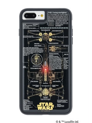 FLASH X-WING 基板アート iPhone7/8Plus ケース 黒【東京回路線図A5クリアファイルをプレゼント】
