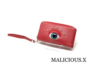 eye smartphone & coin case /  rainbow(red )
