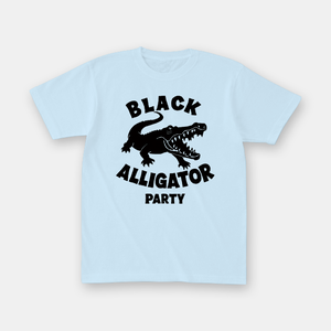 Black Alligator Party ワニTシャツ (light blue)