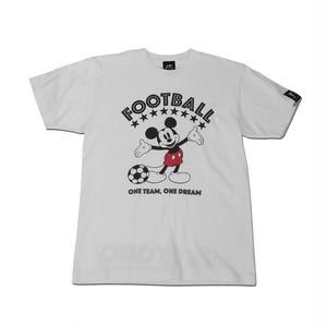 Mickey Mouse コラボ Tシャツ gramo「ONE DREAM」(ホワイト/T-022) ※S~Lサイズ