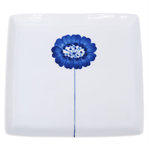 浜陶 波佐見焼 和山窯 flowers 角プレート 皿 一輪花 323560