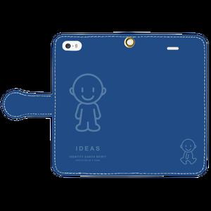IDEAS/iPhone5/5s/SE手帳型ケース 803-ネイビー