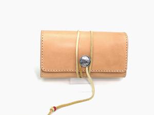 手巻タバコ用ロールアップポーチMサイズ  革厚:ミディアム ポケット大付き
