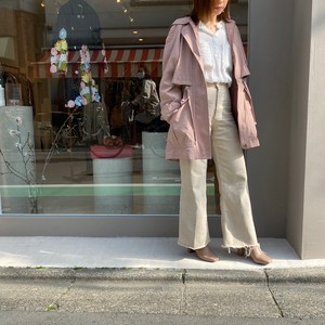 ◼︎90s drawstring waist button up hooded jacket from U.S.A.◼︎