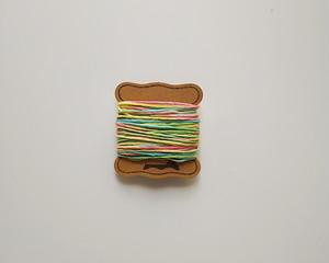 ロウビキ麻糸 グリーン