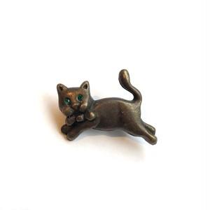 緑のおめめの猫ちゃんブローチ