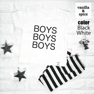 プリント 半袖 Tシャツ BOYS Logo ボーイズ 男の子 ロゴ 子供服 キッズ vanilla&spice バニラ&スパイス