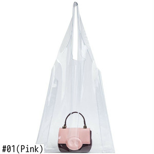 Bag Set PVC Large Tote Bag Small Shoulder Bag ショルダーバッグ トートバッグ (HF99-3124589)