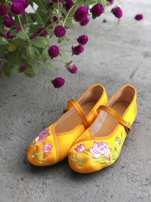 台湾刺繍靴_Yellow_23.5cm