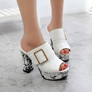 【shoes】サンダルハイヒールセクシースリッパチャンキーヒール