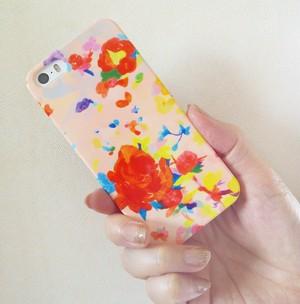 """""""ピンクの花""""iphone/スマートフォンケース"""