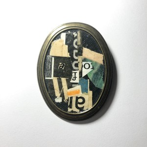 """dib"" ONE-OFF COLLAGE BROOCH"