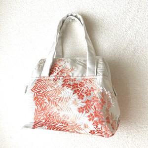 【花たちの祝福】西陣帯プチバッグ 〜ONEシリーズ