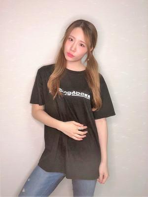 「akaringobass」Tシャツ(ブラック)+ポストカードセット