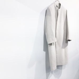 NO CONTROL AIR 【ノーコントロールエアー】 Super 100's wool melton no collar coat
