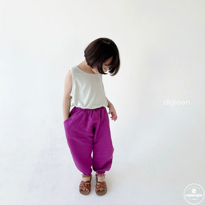 «sold out» digreen Sausages Pants リネンジョガーパンツ
