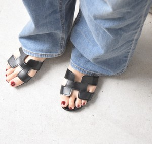 Ecoleather Hmotif Sandals (ブラック)