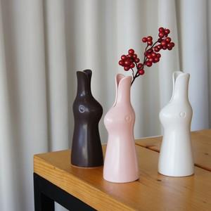 ウサギの花器/鹿児島睦