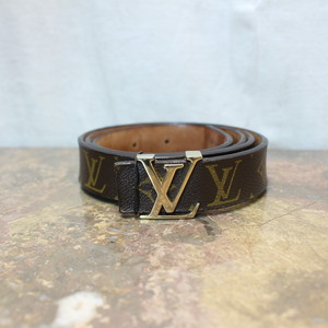 LOUIS VUITTON M9608 LB0072 MONOGRAM PATTERNED BELT MADE IN SPAIN/ルイヴィトンサンチュールイニシアルモノグラム柄ベルト