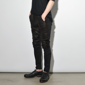 "Leather×Cotton ""Skinny""Pants  〈Black〉"
