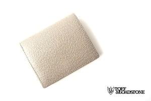 トフアンドロードストン|toffandloadstone|2つ折り財布|ミニウォレット|ペッカリー|Mini wallet Peccary|TMA-039|ベージュ