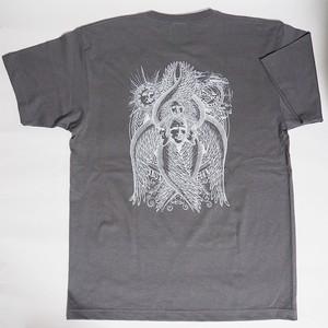 【New2017】アートTシャツ「CHERUBIM(ケルビム)」壁画グレー