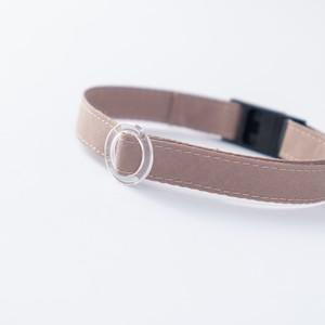 【猫にやさしい布首輪】カフェオレ 軽量3g やわらか 安全 シンプル ペットシッター考案