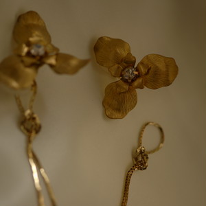 【2way】vintage chain flower large