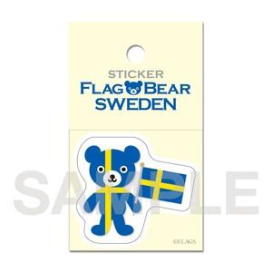 FLAG BEAR STICKER <SWEDEN> スウェーデン (小(S))
