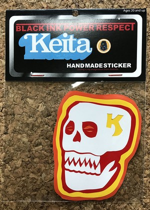 HAND MADE STICKER ~SKULL ~