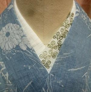 ぼたんさんの日本刺繍半襟シリーズ(萩)