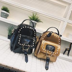 【バッグ】ファッション新品PUファスナーリベットリュック