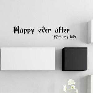 Happy ever afterのメッセージ インテリアステッカー