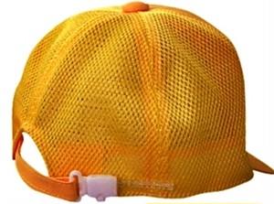 №.4030 ☆黄野球帽:メッシュ フリーサイズ:後部アジャスター付き