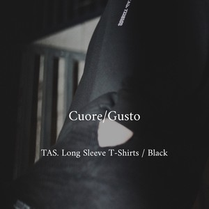 Cuore/Gusto TAS. Long Sleeve T-Shirt(Front Only) / Black