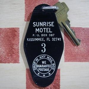 アメリカ SUNRISE MOTEL[サンライズ・モーテル]フロリダ州ホテルヴィンテージ ルームキーホルダー