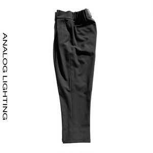 Cross Tuck Pants/WOOL/BLACK